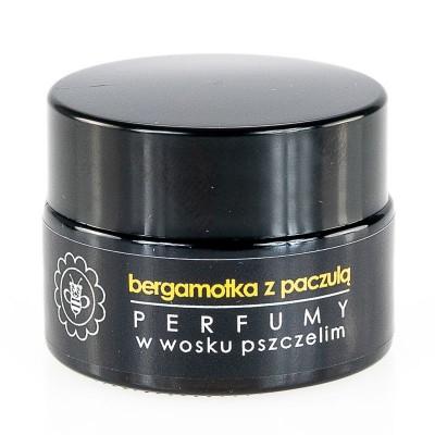 Miodowa Mydlarnia - Perfumy w wosku pszczelim Bergamotka z paczulą 15g