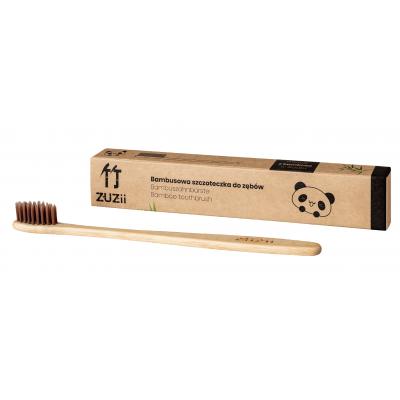Zuzii - Bambusowa szczoteczka do zębów BRĄZOWE WŁOSIE