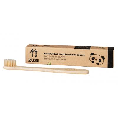 Zuzii - Bambusowa szczoteczka do zębów - Dla Dzieci - BEŻOWE WŁOSIE