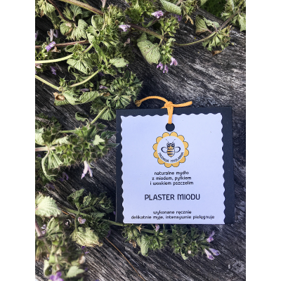 Miodowa Mydlarnia - Mydło Plaster Miodu z miodem,pyłkiem i woskiem 95g