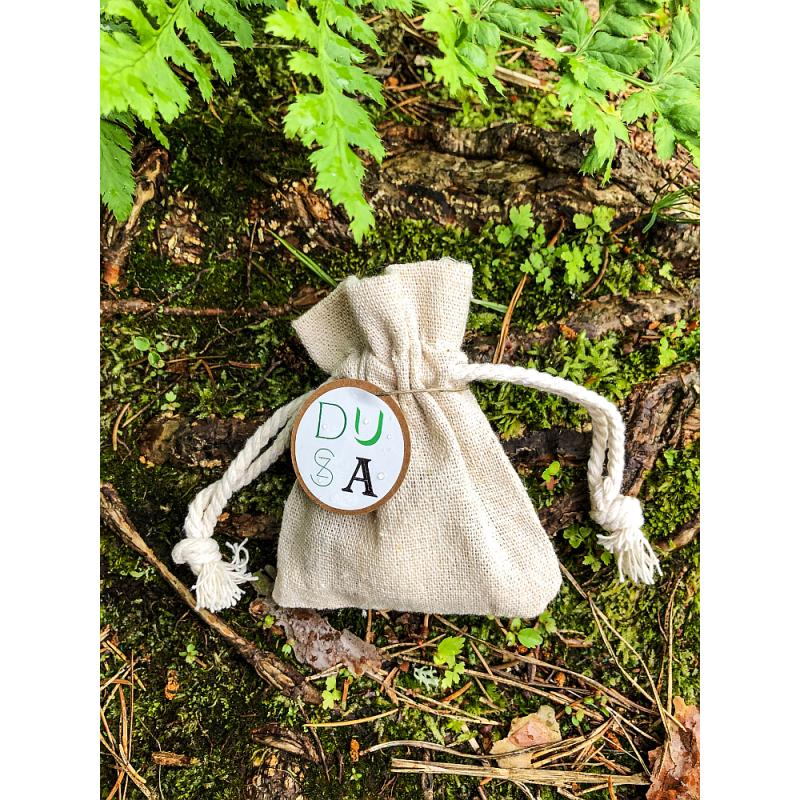 Dusza - Woreczek lniany z woskiem aromaterapeutycznym