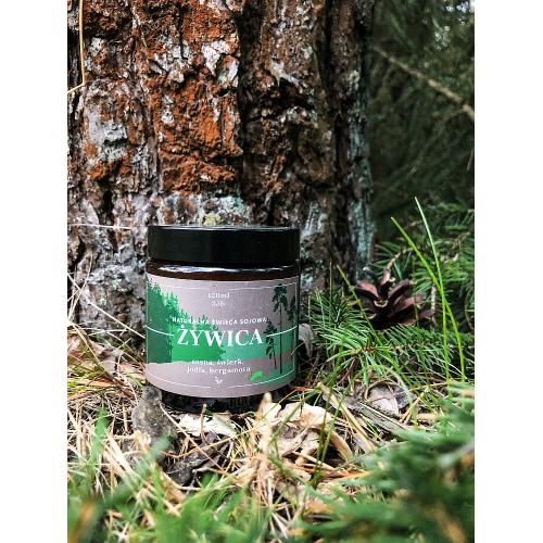 Dusza - Żywica - świeca sojowa na olejkach eterycznych