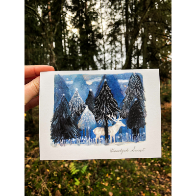 Kartka Świąteczna - Zimowa noc Ducha - Karolina Maluki Piaścik