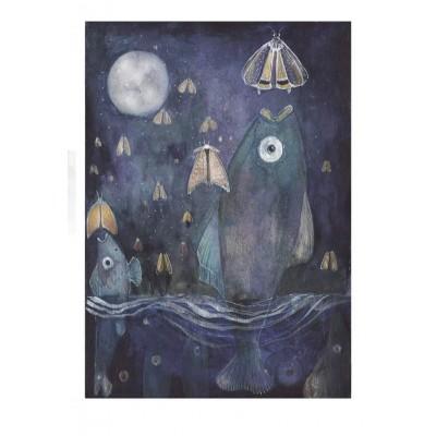Plakat Mazurski - Ryby i ćmy