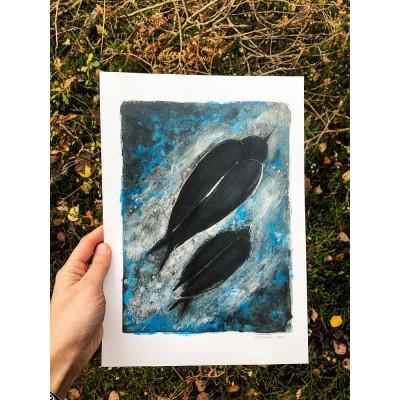 Plakat Mazurski - Gwiezdne podróże - Karolina Maluki Piaścik