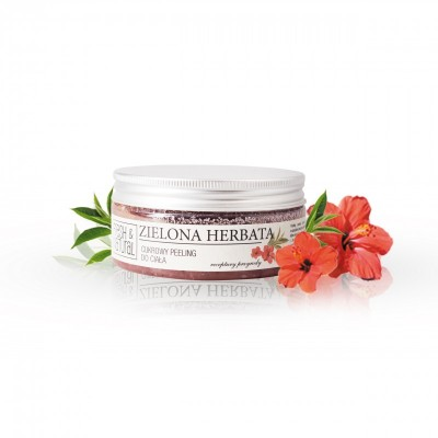 Fresh And Natural - Cukrowy peeling do ciała Zielona Herbata 250g