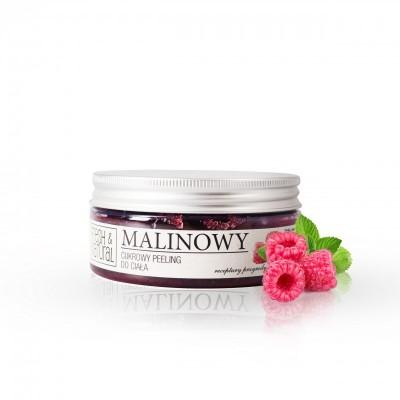 Fresh And Natural - Cukrowy peeling do ciała Malinowy 250g