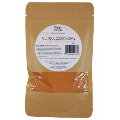 Fresh and Natural - Glinka czerwona rozświetlająca 80g