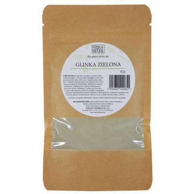 Fresh and Natural - Glinka zielona intensywnie regenerująca 80g