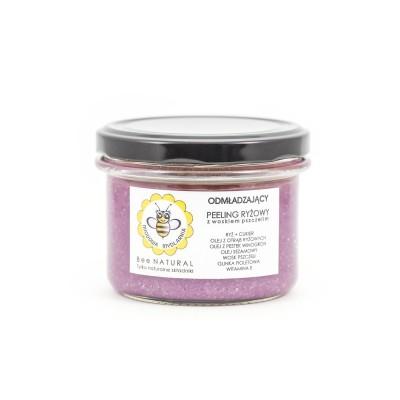Miodowa Mydlarnia - Peeling do ciała Ryżowy z woskiem pszczelim 200g