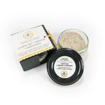 Miodowa Mydlarnia - Peeling do twarzy Czarny bez z arbuzem i goździkiem 25g