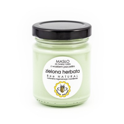 Miodowa Mydlarnia - Masło do ciała i twarzy Zielona herbata 135 ml